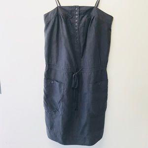 GAP Gray Drawstring Dress